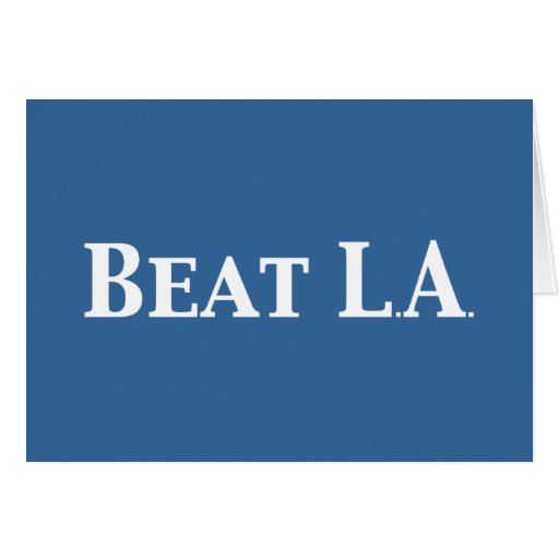 Beat LA Gifts Greeting Card