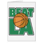Beat LA Greeting Card