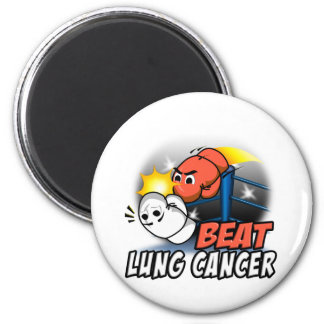 Beat Lung Cancer 2 Inch Round Magnet
