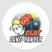 Beat Lung Cancer Classic Round Sticker