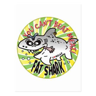 Beat Meat Fat Shark Postcard