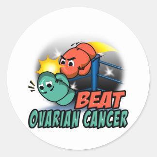 Beat Ovarian Cancer Classic Round Sticker