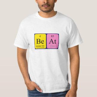 Beat periodic table name shirt