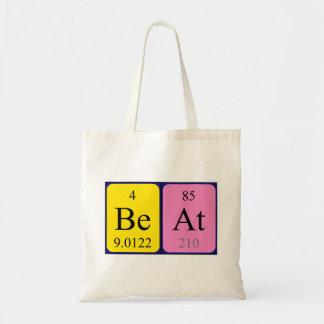 Beat periodic table name tote bag