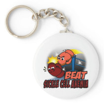 Beat Sickle Cell Anemia Keychain