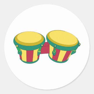 Beat Round Stickers