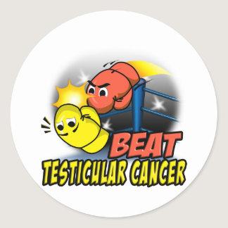 Beat Testicular Cancer Classic Round Sticker