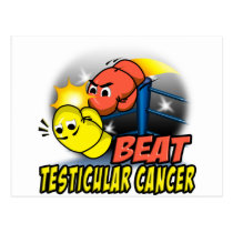 Beat Testicular Cancer Postcard