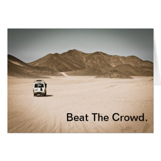 Beat The Crowd. Card