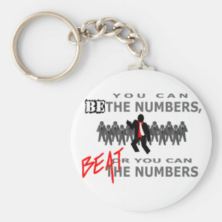 Beat The Numbers Basic Round Button Keychain