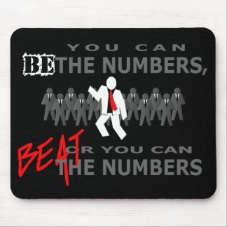 Beat The Numbers Mouse Pad