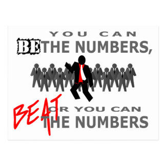Beat The Numbers Postcard