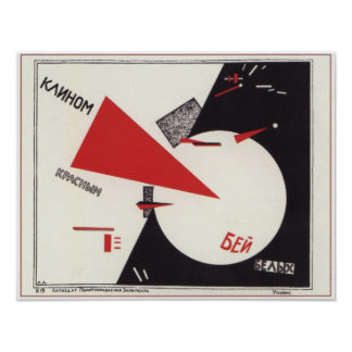 Beat the Whites with the Red Wedge 1920 Civil War Poster