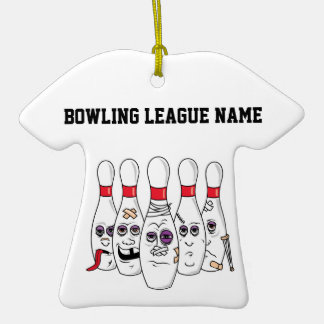Beat Up Bowling Pins Christmas Tree Ornament