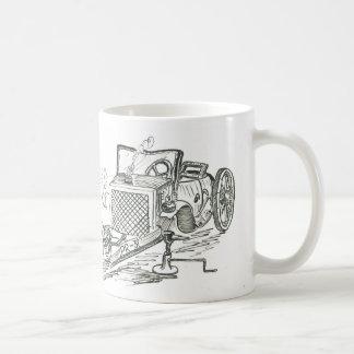 Beat up car mug