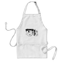 beat up graphic art adult apron