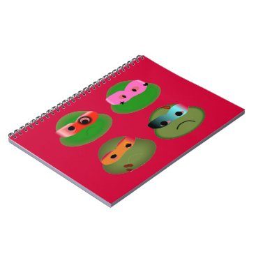 Halloween Themed beat up ninjas funny notebook turtles