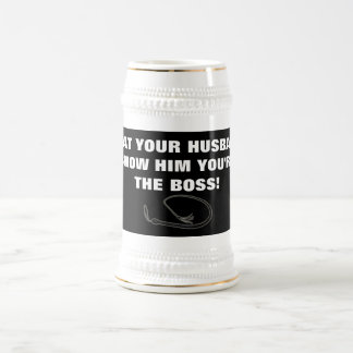 BEAT YOUR HUSBAND BEER STEIN