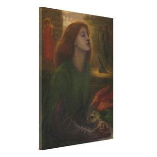 Beata Beatrix by Dante Gabriel Rossetti Canvas Print
