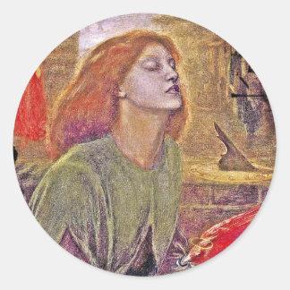 Beata Beatrix Classic Round Sticker