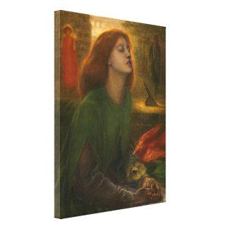 Beata Beatrix - Dante Gabriel Rossetti Canvas Print