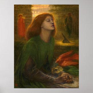 Beata Beatrix - Dante Gabriel Rossetti Poster