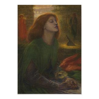 "Beata Beatrix de Dante Gabriel Rossetti Invitación 5"" X 7"""