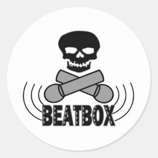 Beatbox Classic Round Sticker