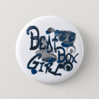 Beatbox Girl Blue Button