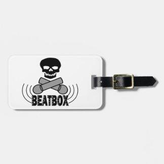 Beatbox Skull & Crossbone Mics Bag Tag