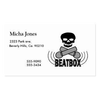 Beatbox Skull & Crossbone Mics Business Card Templates