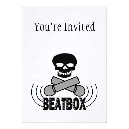 Beatbox Skull & Crossbone Mics Card