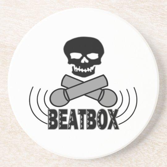 Beatbox Skull & Crossbone Mics Coaster
