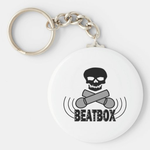 Beatbox Skull & Crossbone Mics Key Chains
