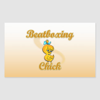 Beatboxing Chick Rectangular Sticker