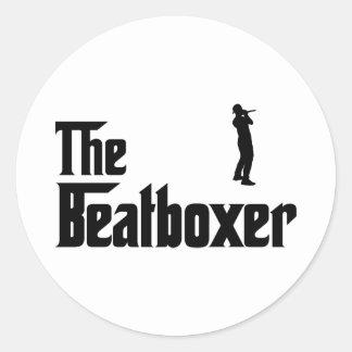 Beatboxing Classic Round Sticker