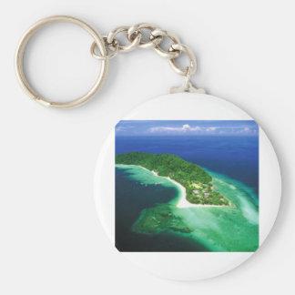 Beatiful Borneo Island Basic Round Button Keychain