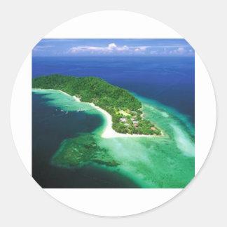 Beatiful Borneo Island Classic Round Sticker