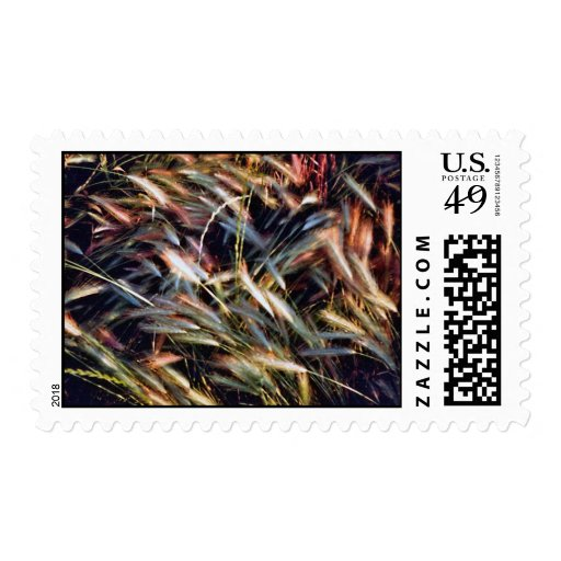 Beatiful Colored Grass Postage Stamps