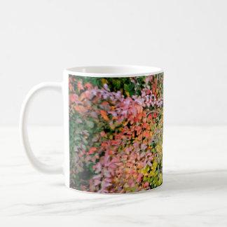 Beatiful colours classic white coffee mug