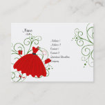 Beatiful Holiday Dress Business Card