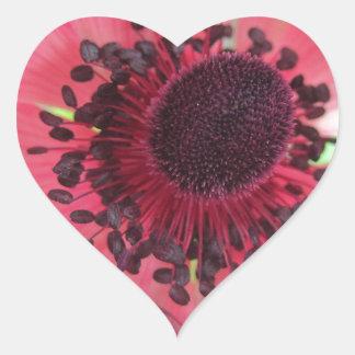 Beatiful Pink Flower Heart Sticker
