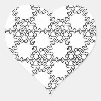 Beatiful Snowflake Pattern Heart Sticker