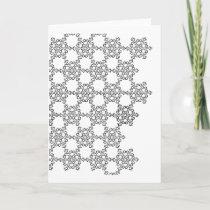 Beatiful Snowflake Pattern Holiday Card