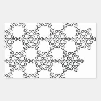 Beatiful Snowflake Pattern Rectangular Sticker