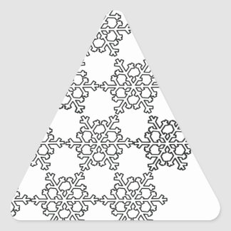 Beatiful Snowflake Pattern Triangle Sticker