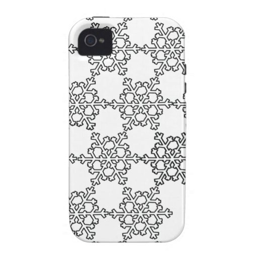 Beatiful Snowflake Pattern Vibe iPhone 4 Cases