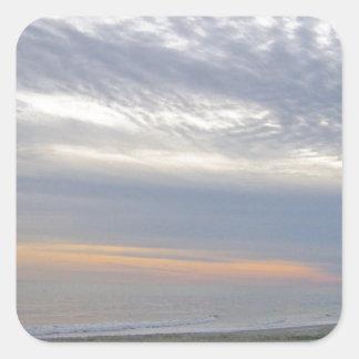 Beatiful Sunset Along Carolina Seashore Square Sticker