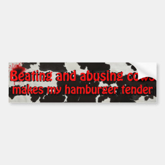Beating and Abusing Cows sticker