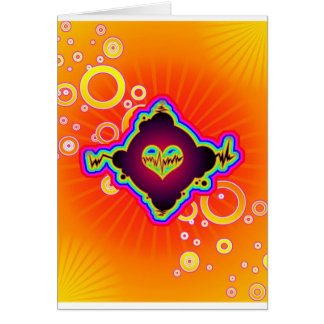 beating heart greeting card